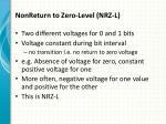 nonreturn to zero level nrz l