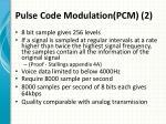 pulse code modulation pcm 2