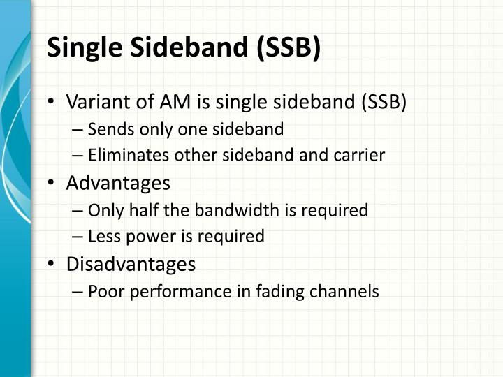 Single Sideband (SSB)