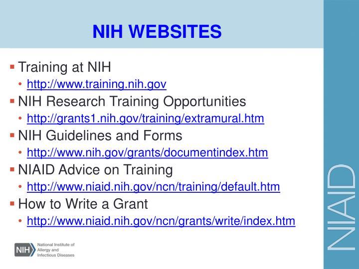 NIH WEBSITES
