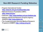 non nih research funding websites