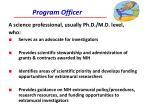 program officer