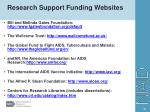 research support funding websites
