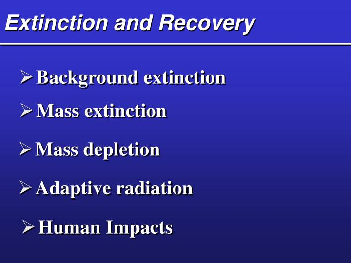 Extinction and Recovery