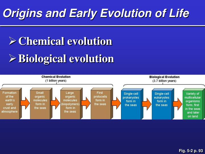 Origins and Early Evolution of Life