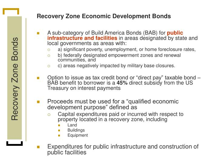 Recovery Zone Economic Development Bonds
