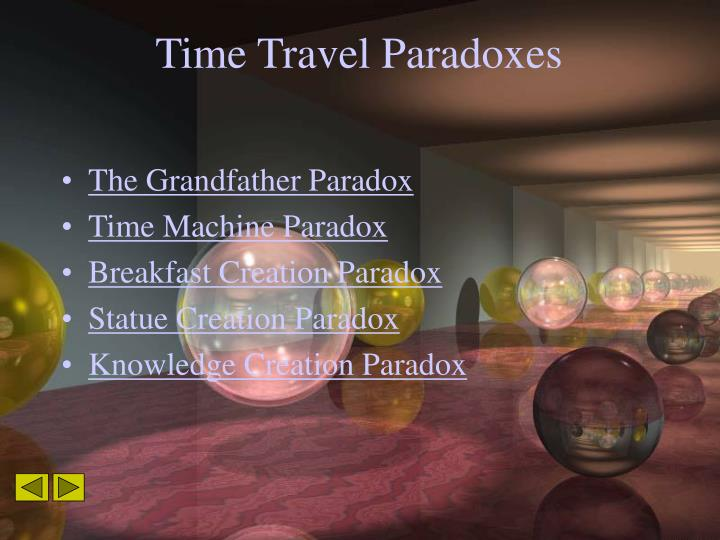 Time travel paradoxes1