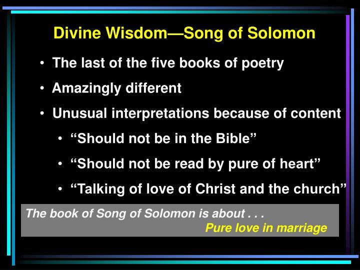 Divine Wisdom—Song of Solomon