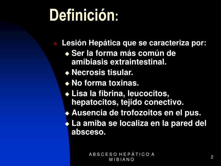 Lesión Hepática que se caracteriza por: