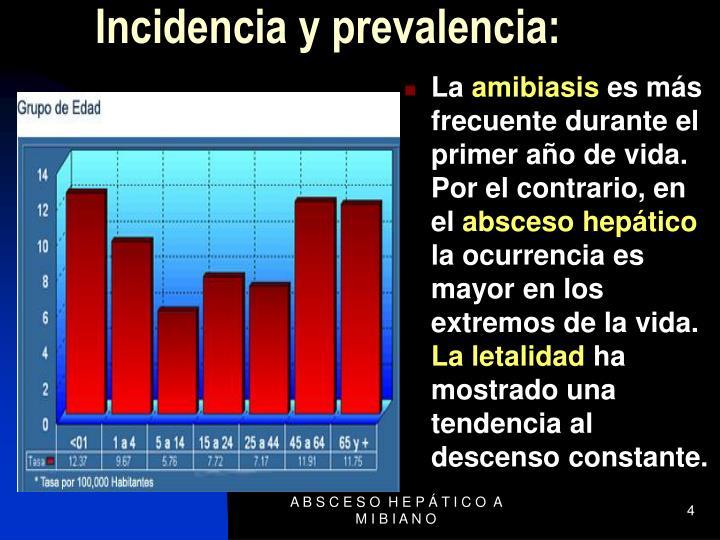 Incidencia y prevalencia: