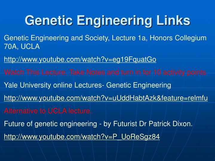 Genetic Engineering Links
