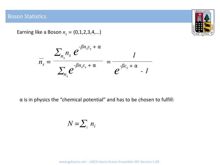Boson Statistics