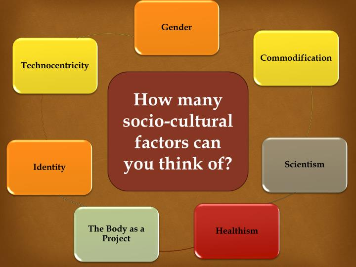 How many socio-cultural factors can you think of?