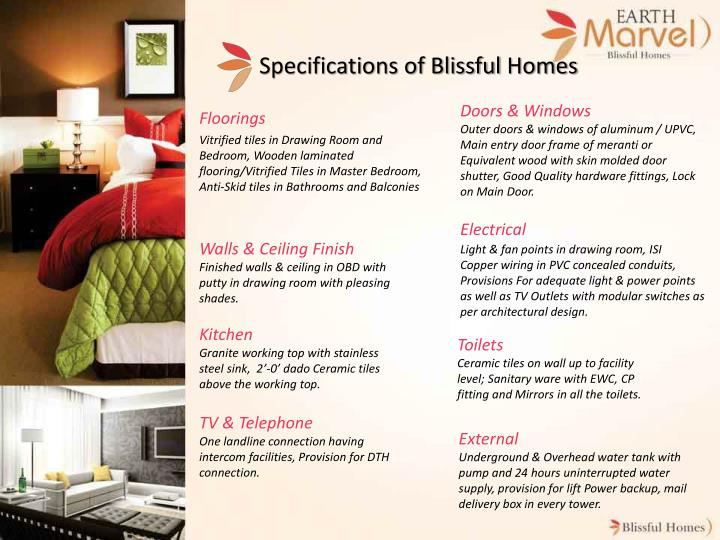 Specifications of Blissful