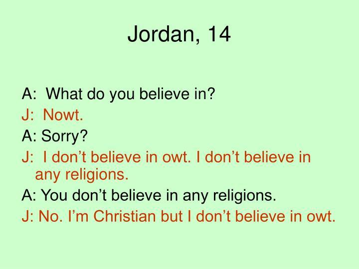 Jordan, 14