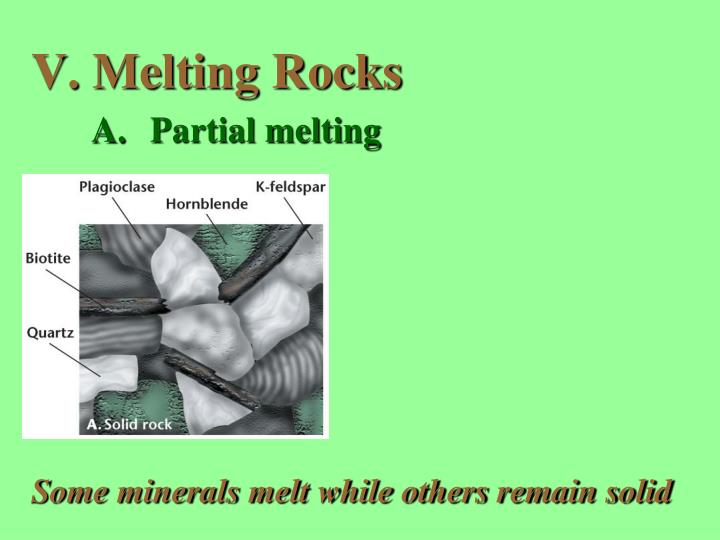Melting Rocks