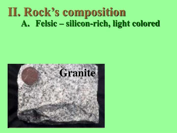 Rock's composition