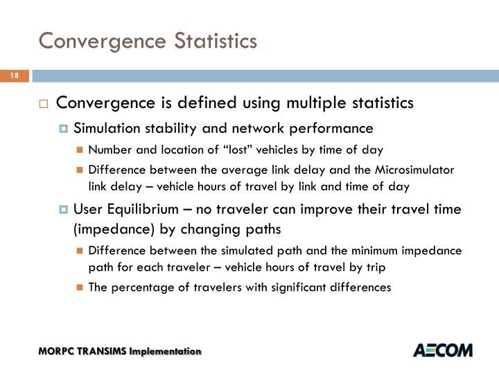 Convergence Statistics