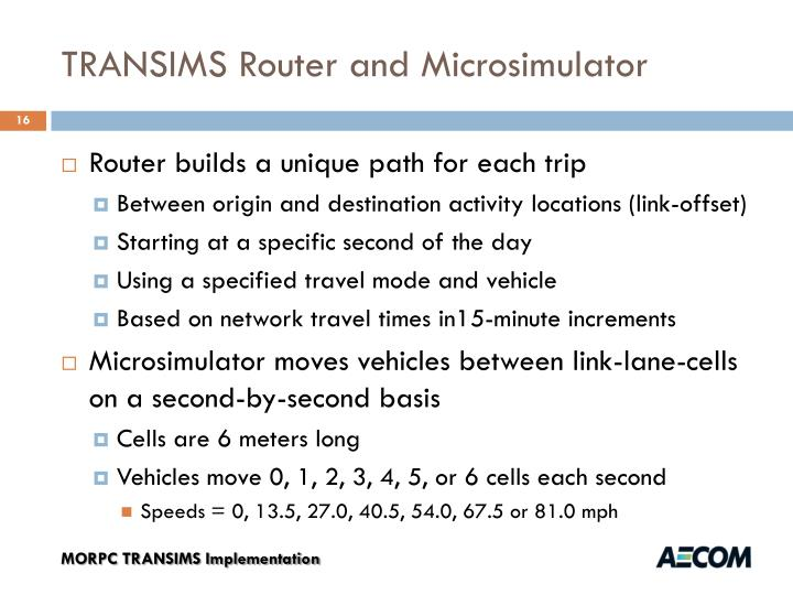 TRANSIMS Router and Microsimulator