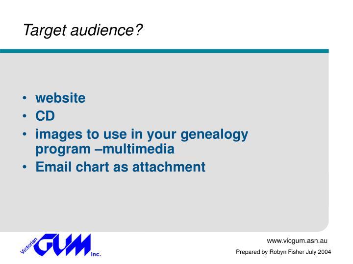 Target audience?
