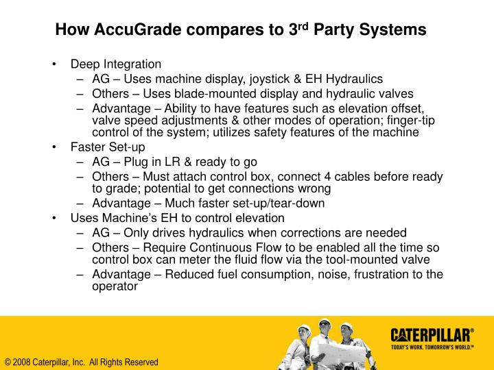 How AccuGrade compares to 3