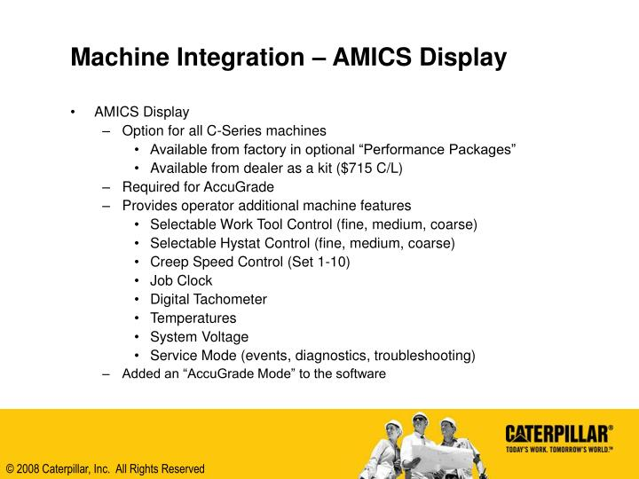 Machine Integration – AMICS Display