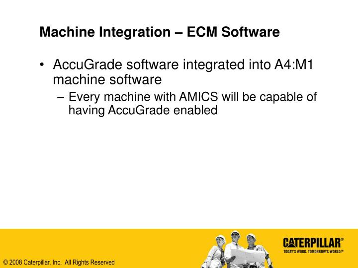 Machine Integration – ECM Software