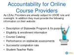 accountability for online course providers