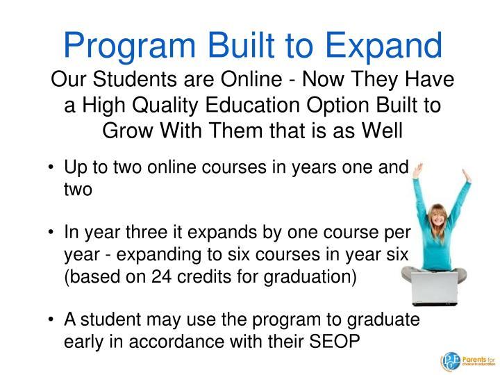 Program Built to Expand