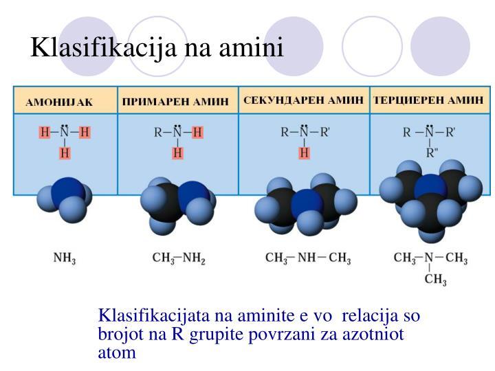 Klasifikacija na amini