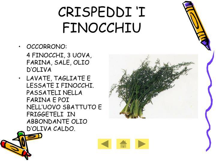 CRISPEDDI 'I FINOCCHIU