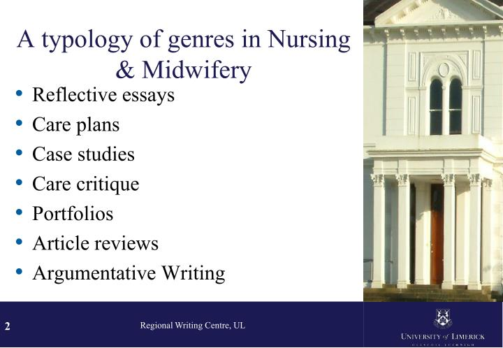 A typology of genres in nursing midwifery