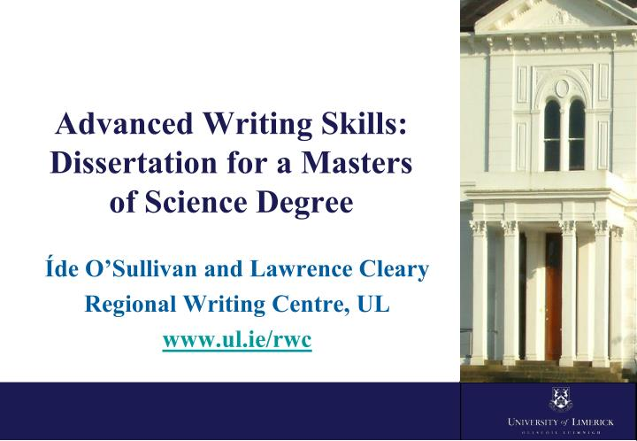 dissertation for masters degree