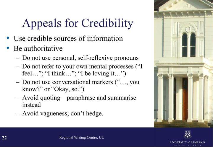 Appeals for Credibility