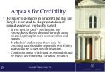 appeals for credibility1