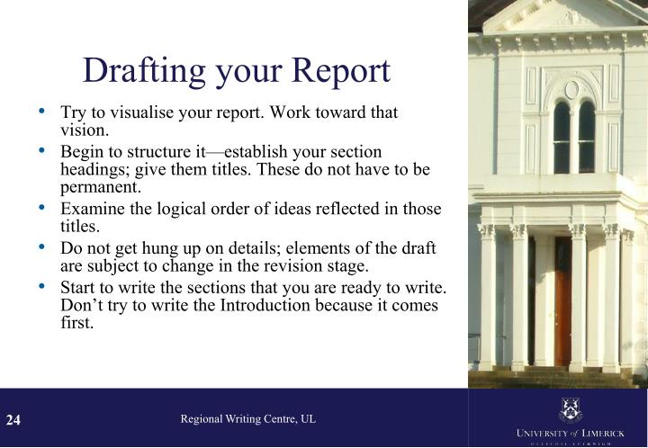 Drafting your Report