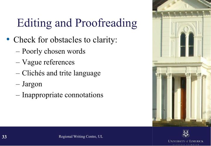 Editing and Proofreading