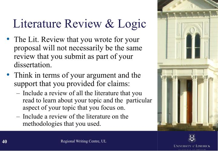 Literature Review & Logic