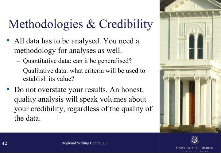 Methodologies & Credibility