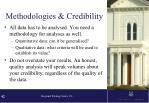 methodologies credibility