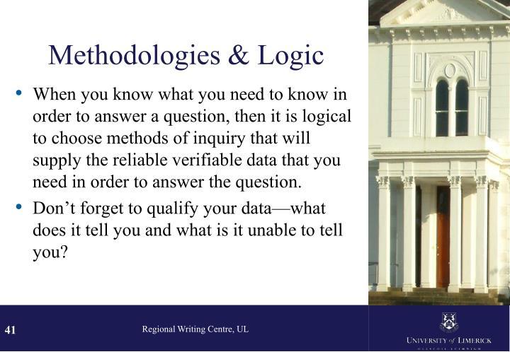 Methodologies & Logic
