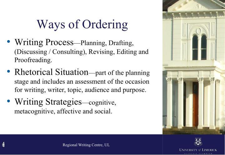 Ways of Ordering