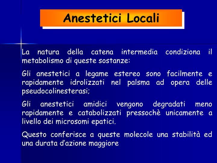 Anestetici Locali
