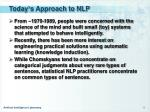 today s approach to nlp