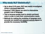 why study nlp statistically