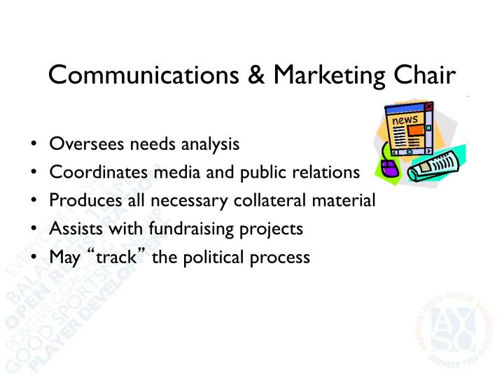 Communications & Marketing Chair