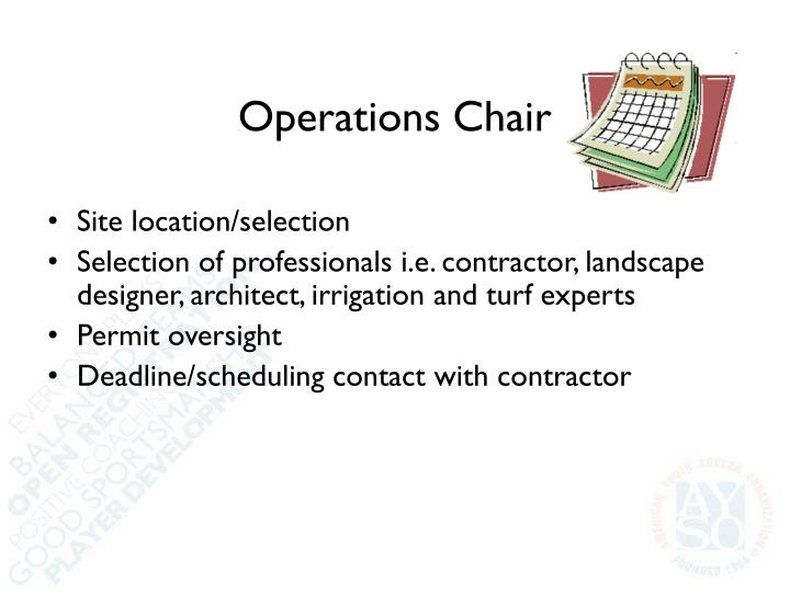 Operations Chair