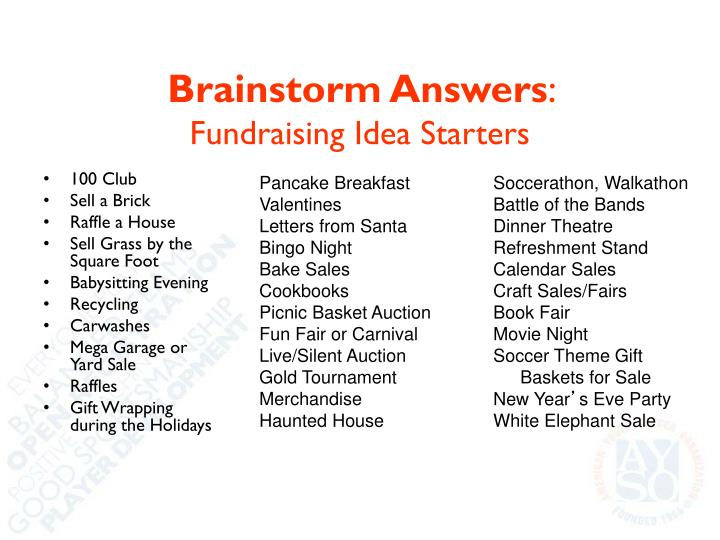 Brainstorm Answers