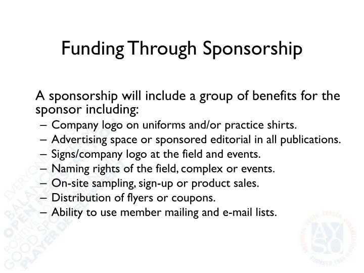 Funding Through Sponsorship