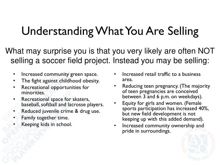 Understanding What You Are Selling